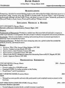 7 entry level finance resume precis format With entry level finance resume