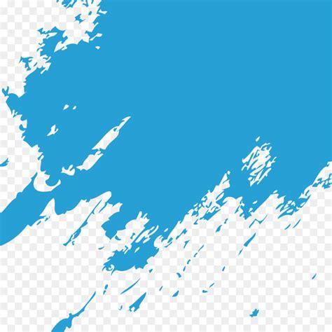 Blue Paintbrush - Blue paint brush marks png download