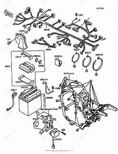 Kawasaki Motorcycle 1997 Oem Parts Diagram For Chassis Electrical Equipment