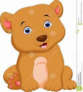 Cute Brown Bear Cartoon Stock Illustration - Image: 55649354