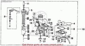 Honda Mt250 Elsinore 1975 K1 Usa Carburetor