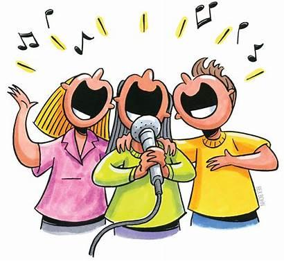 Clipart Singing Clip Children Clipartion