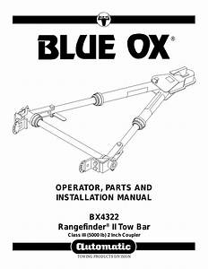 Blue Ox Bx4322 User Manual