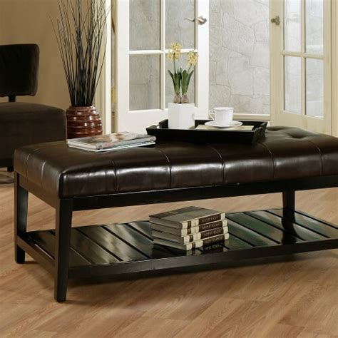 Brown tray ottoman coffee table with storage. 36 Top Brown Leather Ottoman Coffee Tables