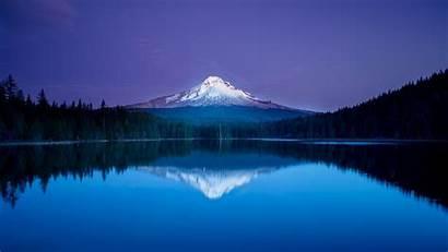 Mountain Lake Oregon Reflection Forest Nature Snow