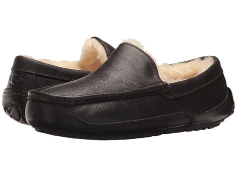 ugg ascot leather china tea leather mens slippers