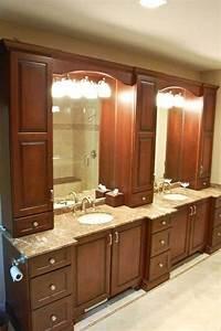 11 best full bath images on pinterest bath vanities for Bathroom vanities with storage towers
