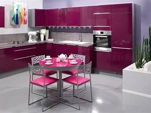 Cuisine Couleur Aubergine : cuisine girly cuisines aviva cuisine girly de couleur ~ Premium-room.com Idées de Décoration