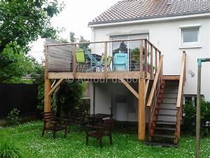 construction terrasse bois paris balcon pinterest With construction terrasse bois suspendue