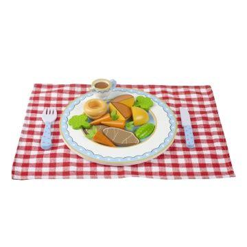 kidkraft cuisine familiale jouets des bois dinette en bois déjeuner avec set vichy