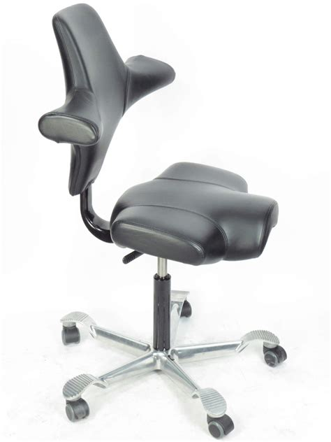 Hag Capisco Chair Ebay by Hag Capisco 8106 Black Leather Ergonomic Office Chair La