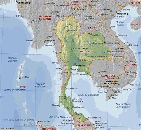 Thailande Carte Geographique Monde by Carte G 233 Ographique De La Tha 239 Lande Voyages Cartes