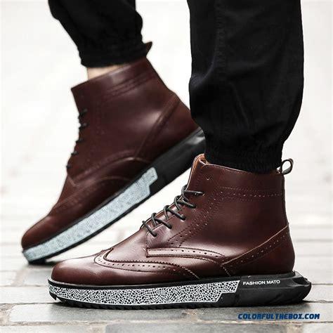 Cheap New Design Men Boots Short High Cut Casual Fashion Warm Black Shoes Sale Online