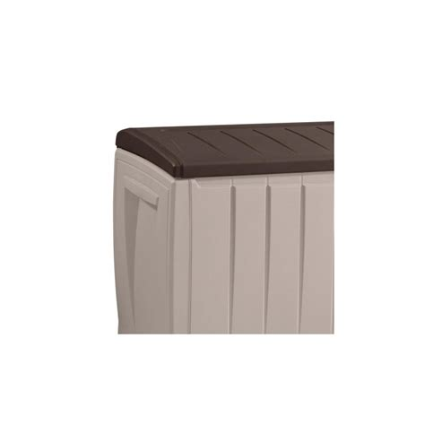 coffre banc de jardin 340l marron et beige keter