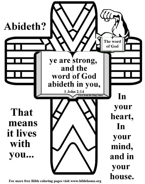 bible coloring pagesfree vbs craft ideas memory verses  bulletin inserts  bible