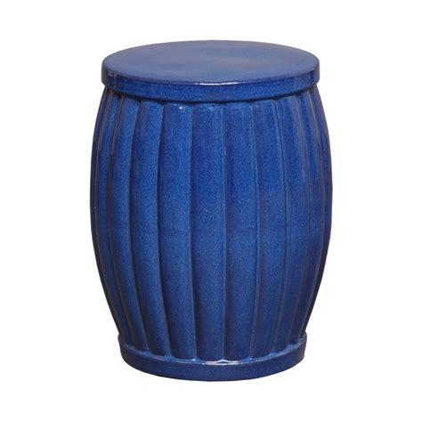 ceramic garden stools blue glaze ceramic garden stool