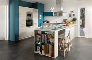 idee deco salon avec cuisine ouverte cuisine en image With idee deco cuisine avec cuisine scandinave pas cher