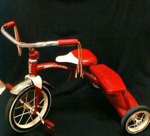 radio flyer tricycle classic red steel frame trike spoke