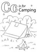 letter c is for carrot coloring page free printable 895 | letter c is for camping coloring page