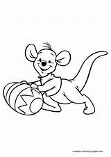 Pooh Winnie Coloring Easter Roo Printablecolouringpages Larger Credit sketch template