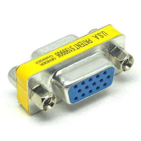 Harga Konektor Rca To Vga konektor sambungan vga gender changer 15 pin to
