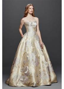 oleg cassini brocade wedding dress with pockets davids With brocade wedding dress