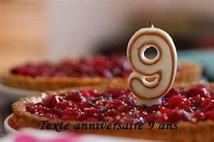 Texte Anniversaire 1 An Garçon : texte anniversaire 9 ans texte anniversaire sms ~ Melissatoandfro.com Idées de Décoration