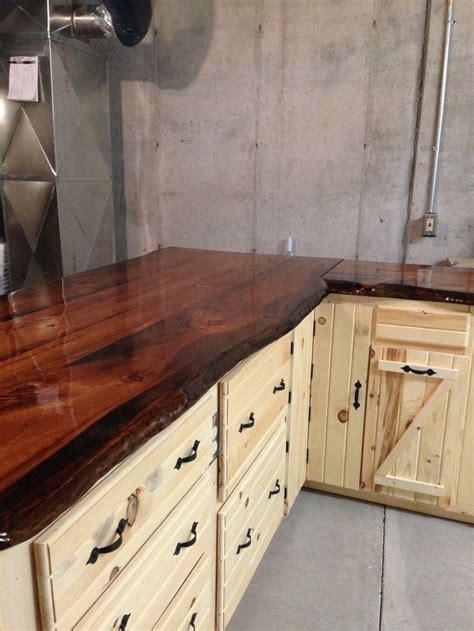edge pine slab counter tops rustic countertops