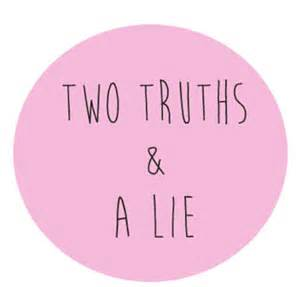 Two Truths One Lie and Worksheet