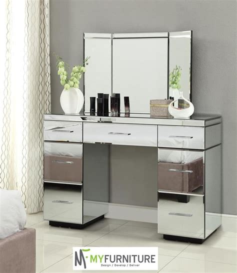 Glass Bedroom Vanity by Furniture Vanity Tables With Mirror Mirrored Vanity Table