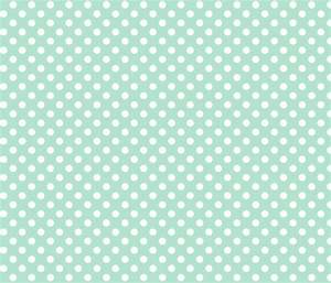 polka dots 2 mint green and white fabric by misstiina on ...