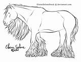 Gypsy Vanner Coloring Horse Draft Wagon Lines Caravan Deviantart Template Coldblooded sketch template
