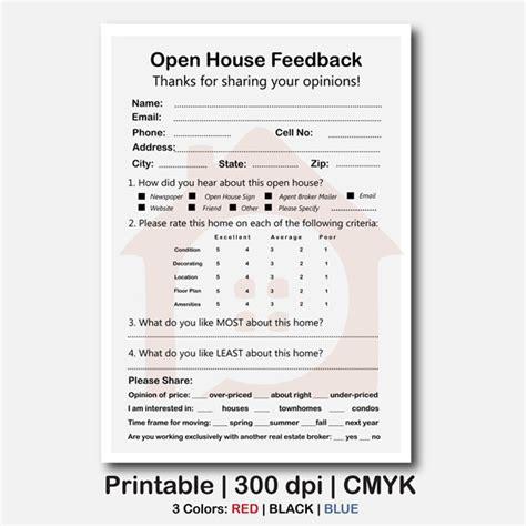 broker open house feedback form real estate open house feedback form real estate signs real