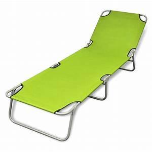 Chaise Longue Bain De Soleil : bain de soleil pliable avec dossier ajustable chaise ~ Dailycaller-alerts.com Idées de Décoration