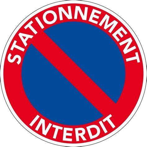 panneau en pvc interdiction de stationner panneau pvc stationnement interdit