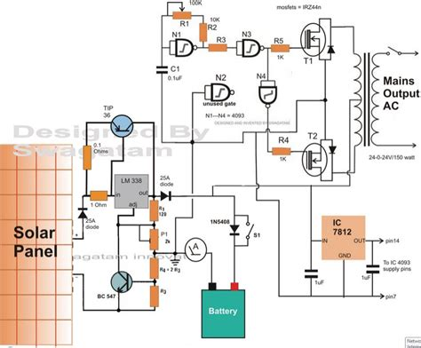 Solar Charge Controller Circuit Diagram Homemade