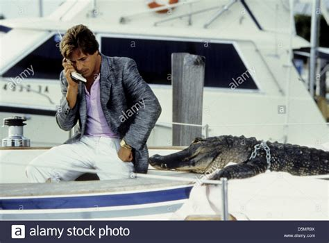 Miami Vice Boat Don Johnson by Don Johnson Miami Vice 1986 Stock Photo Royalty Free