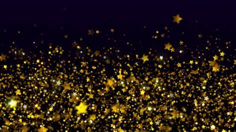 gold star loop  black background youtube