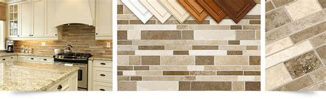travertine subway mix backsplash tile  kitchen