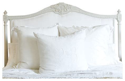 louis xvi french country white cotton upholstered