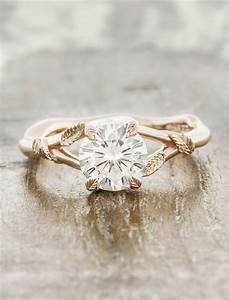 pembroke leaf prong diamond engagement ring rose gold With nature inspired wedding rings