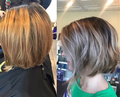 Before To After Blonde Bob, Lob, Hair Makeover Ideas, Hair