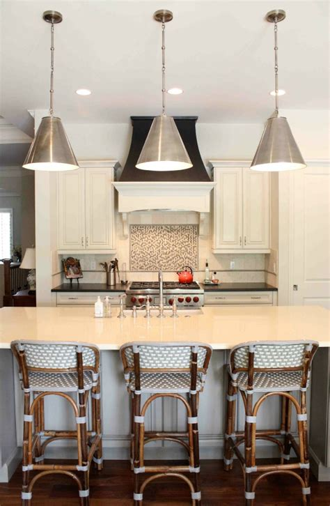 cone pendants  lighting   kitchen driven  decor