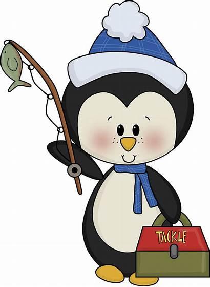 Penguin Ice Fishing Cartoon Poppins Mary Disney