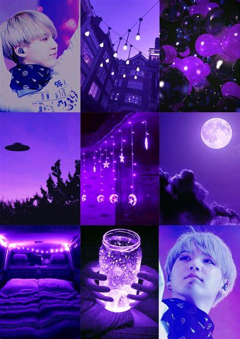 bts moodboards purple yoongi aesthetic wallpaper version