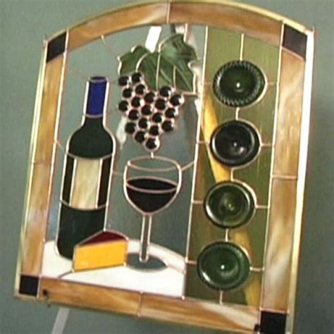 wine bottle stained glass panel hgtv
