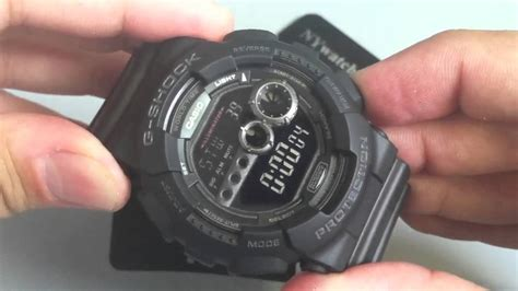casio g shock black casio g shock blackout gd100 1b