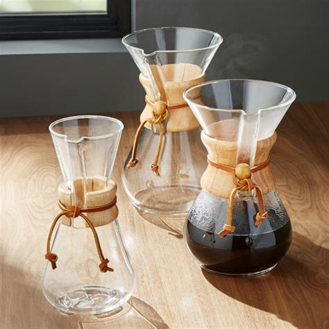 chemex coffee makers  wood collar crate  barrel