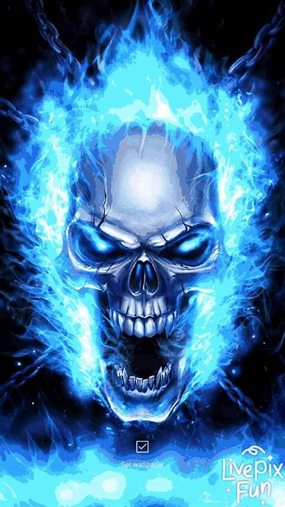 Skull Flame Fire Wallpapers Cool Ghost Flames