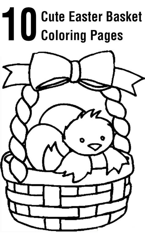 easter baskets coloring pages  coloring  pinterest